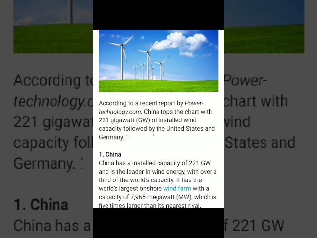 Country uses wind energy power plant.(NCES) Part-7. By -Damini Tandan.