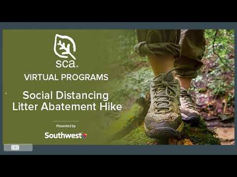SCA Virtual Earth Day Litter Abatement Hike